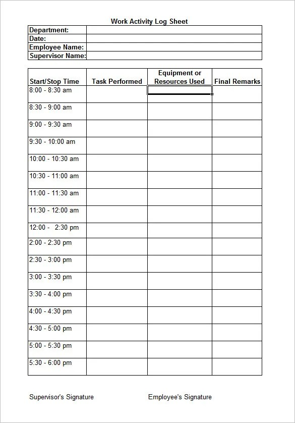 8+ Daily Worksheet Templates \u2013 Free Word Excel Documents Download