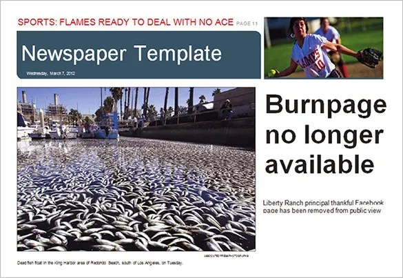Free Newspaper Template \u2013 20+ Free Word, PDF, PSD, Indesign, EPS