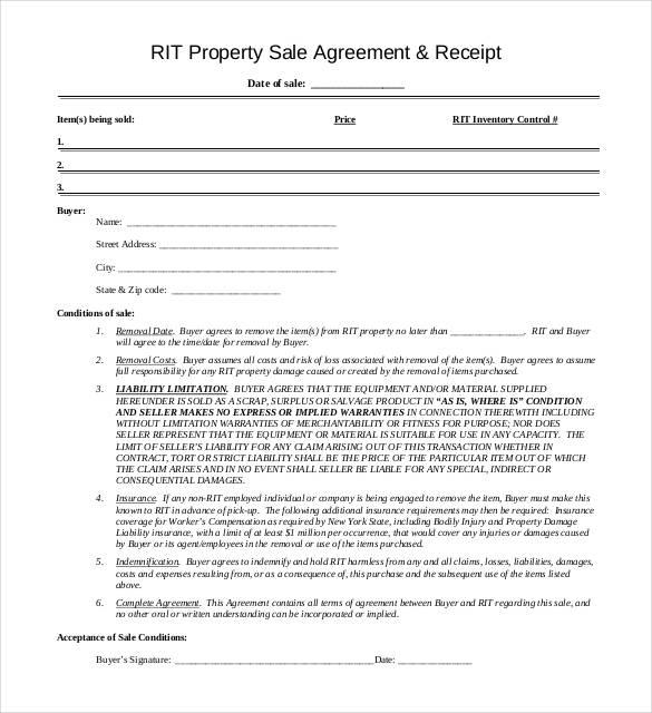 free sales receipt form