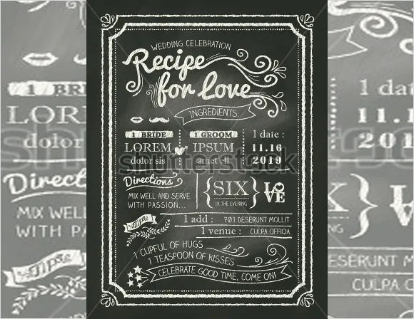 Chalkboard Invitation Template - 45+ Free JPG, PSD, Indesign Format - chalk board invitation template