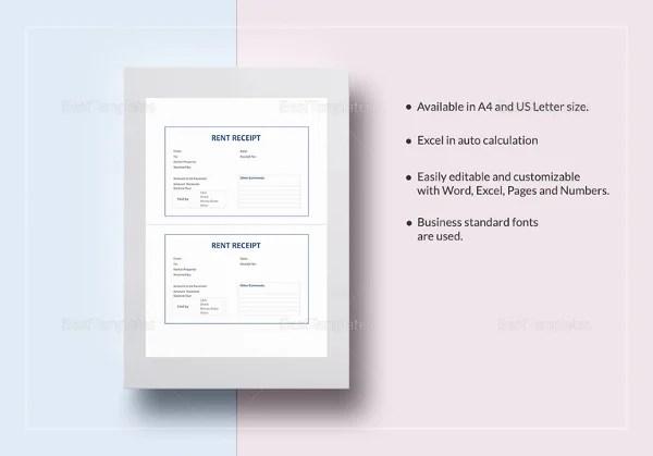 26+ Rent Receipt Templates - PDF, DOC, Xls Free  Premium Templates