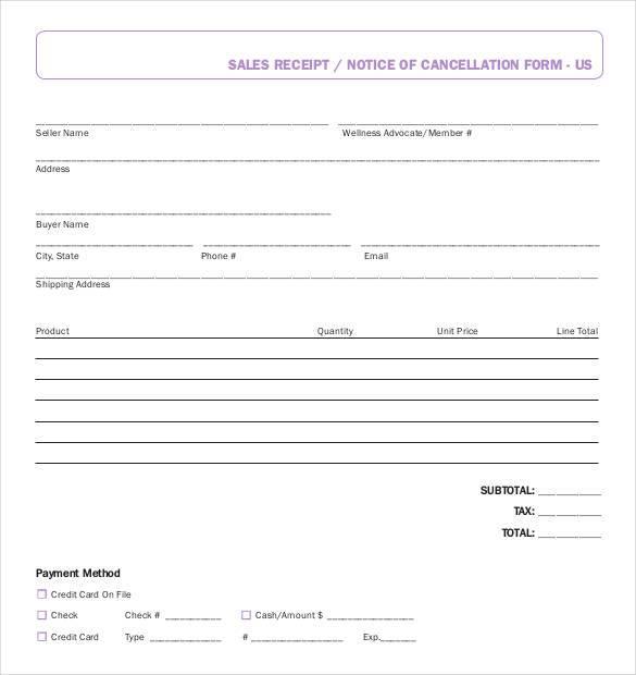 29+ Sales Receipt Templates - DOC, Excel, PDF Free  Premium Templates - sale recipt