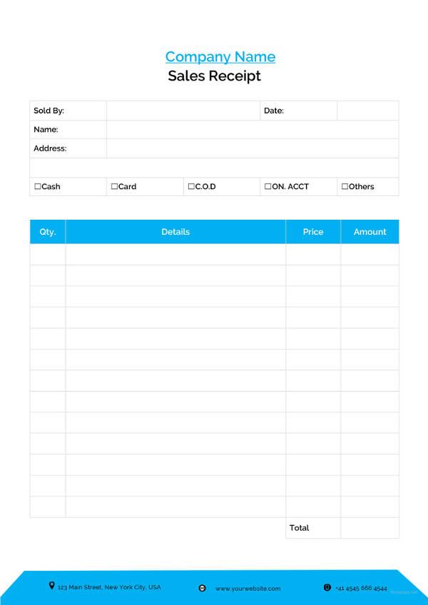 29+ Sales Receipt Templates - DOC, Excel, PDF Free  Premium Templates - cash sales receipt