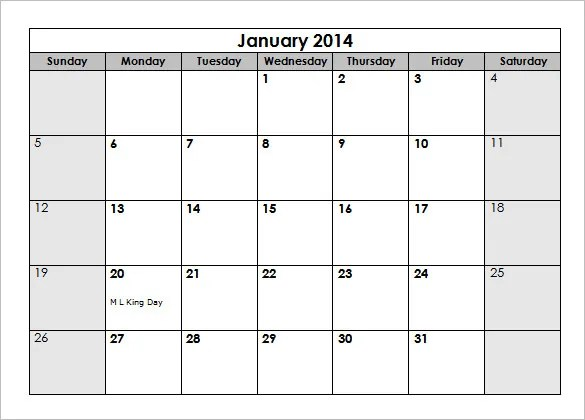 2014 Calendar Template With Holidays 2014 Calendar With Us Holidays Ms Word Download 40 Microsoft Calendar Templates Free Word Excel