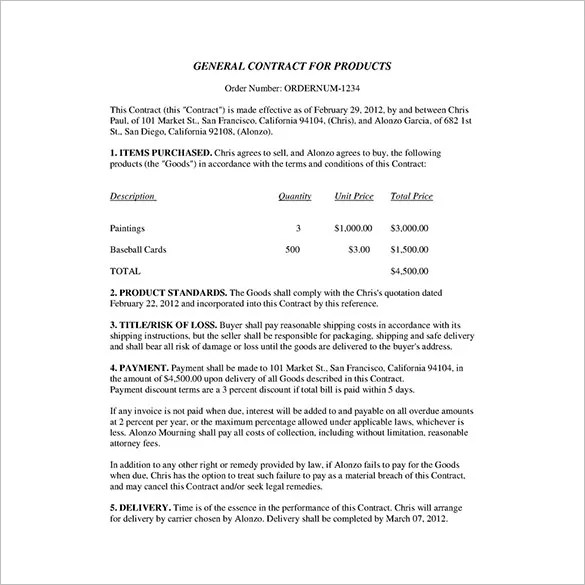 23+ Business Contract Templates \u2013 Pages, Docs Free  Premium Templates