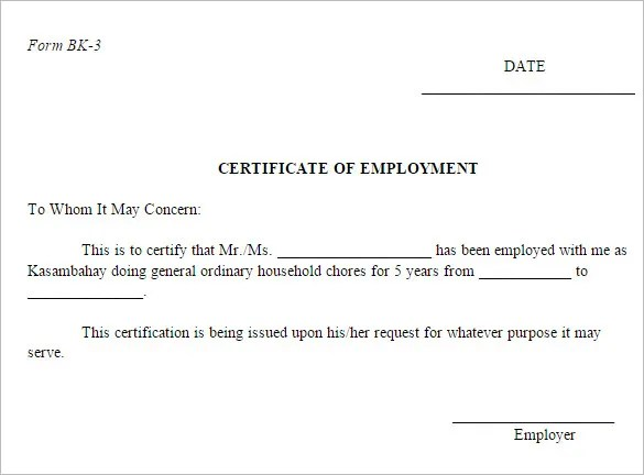 sample of employee certificate - Onwebioinnovate - samples of certificate of employment