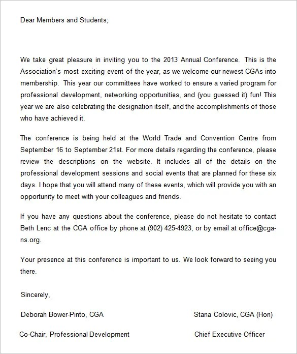6+ Conference Invitation Templates u2013 Free Word Documents Download - invitation event sample