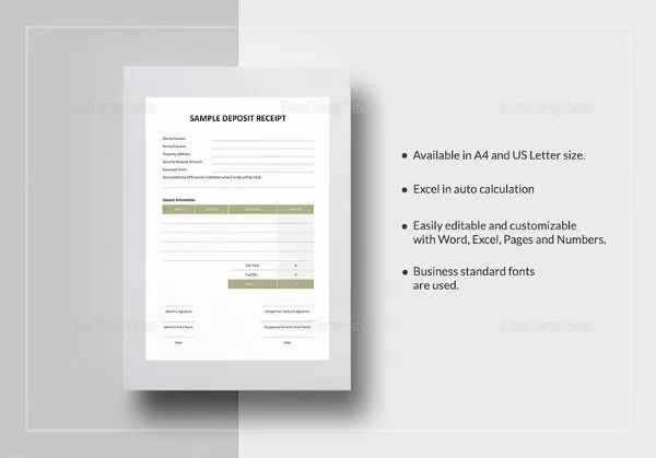 Money Receipt Template - 19+ Free Sample, Example, Format Download