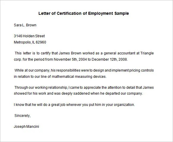 Employment Certificate - 40+ Free Word, PDF Documents Download - work certificate template letter