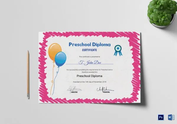School Certificate Template - 27+ Free Word, PSD Format Download