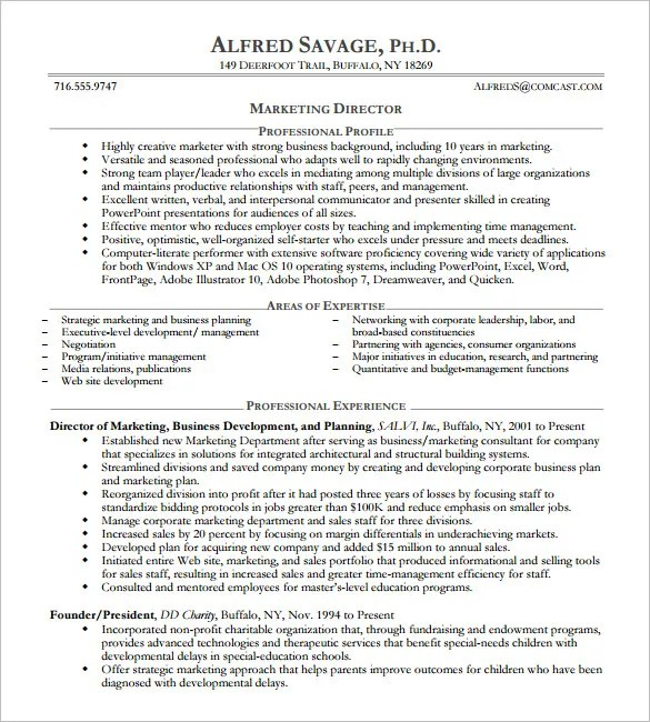 10+ Executive Resume Templates u2013 Free Samples, Examples, \ Formats - executive resume formats and examples