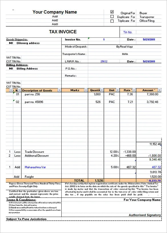 excel template for invoice. microsoft excel ( xls) free service, Simple invoice