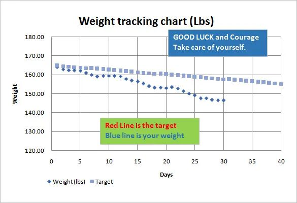 weight tracker excel
