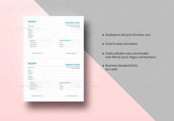 17+ Business Receipt Templates - DOC, Excel, PDF Free  Premium