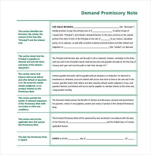 35+ Promissory Note Templates - DOC, PDF Free  Premium Templates