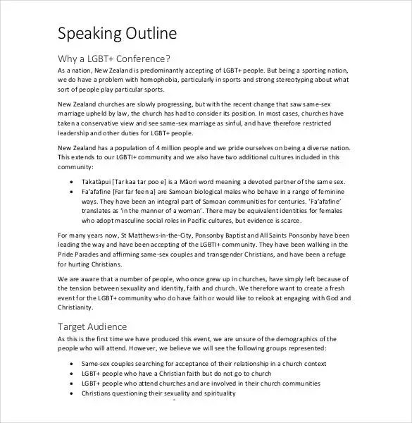 Speech Outline Template - 32+ Free PDF, Word Documents Download - acceptance speech example template