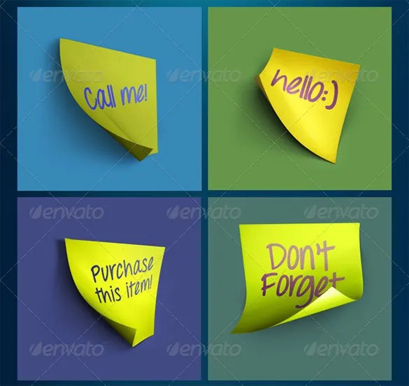 16+ Sticky Note Templates - DOC, PDF, PSD, EPS Free  Premium