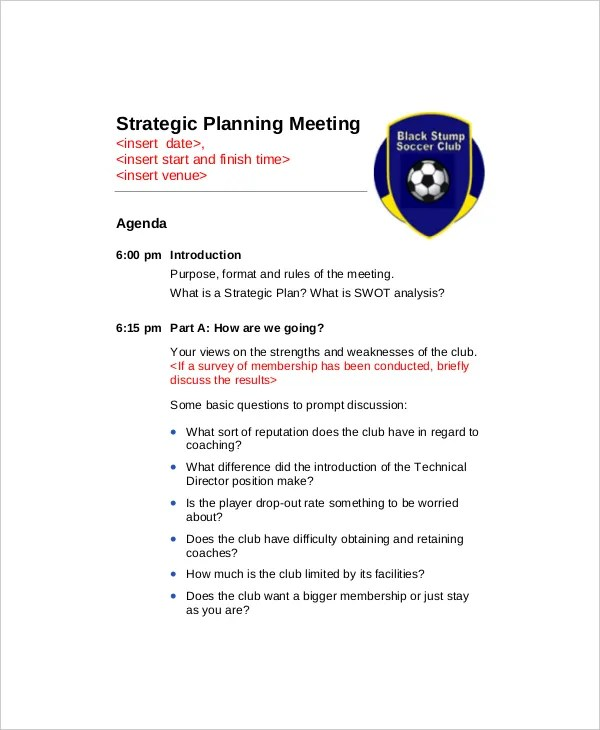 strategic planning meeting agenda - Romeolandinez - meeting agenda outline