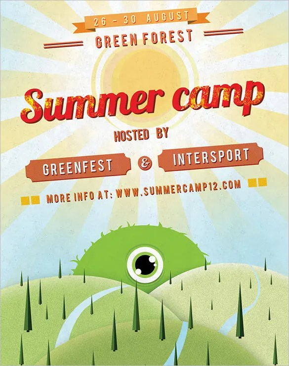 40+ Summer Camp Flyer Templates - Free JPG, PSD, ESI, InDesign