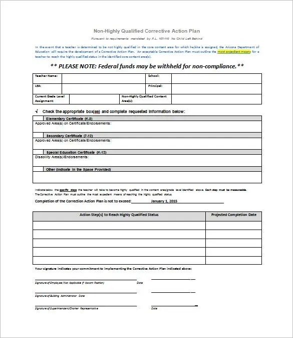Corrective Action Plan Template - 25+ Free Word, Excel PDF Format