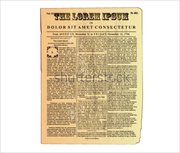 20+ Old Newspaper Templates - PSD, JPG Free  Premium Templates - old newspaper template