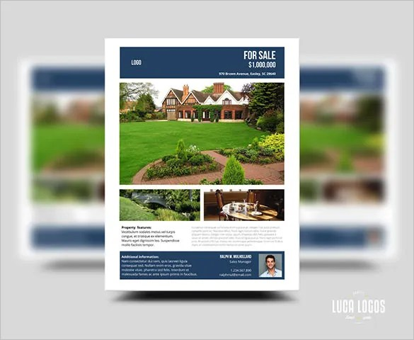 20+ Stylish House for Sale Flyer Templates  Designs Free - land for sale flyer