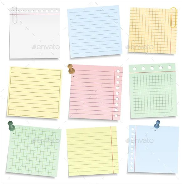 13+ Notebook Paper Templates \u2013 Free EPS, PDF, Illustrator Files - notepad paper template
