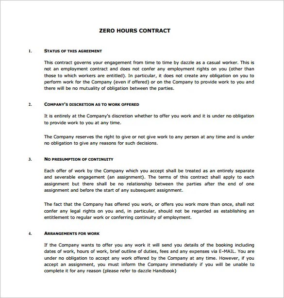 17+ Job Contract Templates - Free Word, PDF Documents Download - Work Contract Template