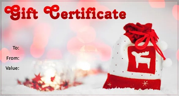 Christmas Gift Certificate Template - 16+ Word, PDF Documents
