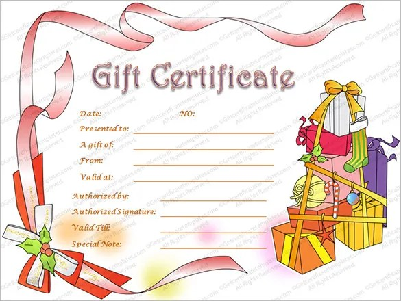 Christmas Gift Certificate Template - 16+ Word, PDF Documents - christmas certificate template