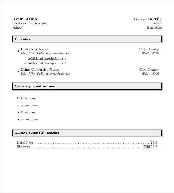 15+ Latex Resume Templates - PDF, DOC Free  Premium Templates - latex resume templates