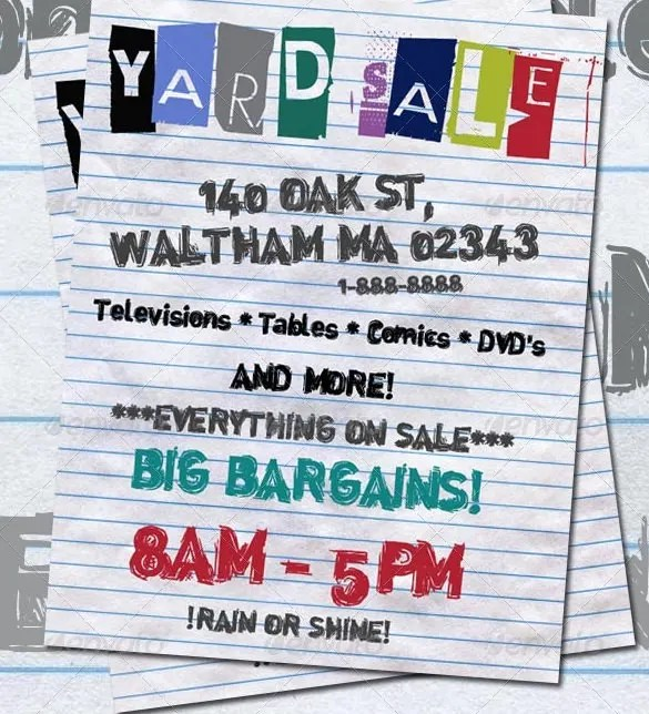 20+ Best Yard Sale Flyer Templates  PSD Designs Free  Premium - for sale poster template