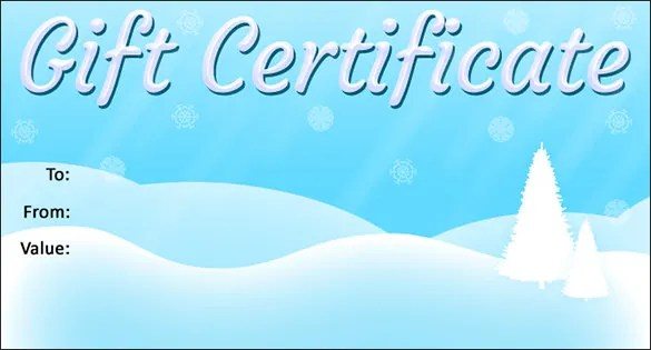 20+ Christmas Gift Certificate Templates - Word, PDF, PSD Free