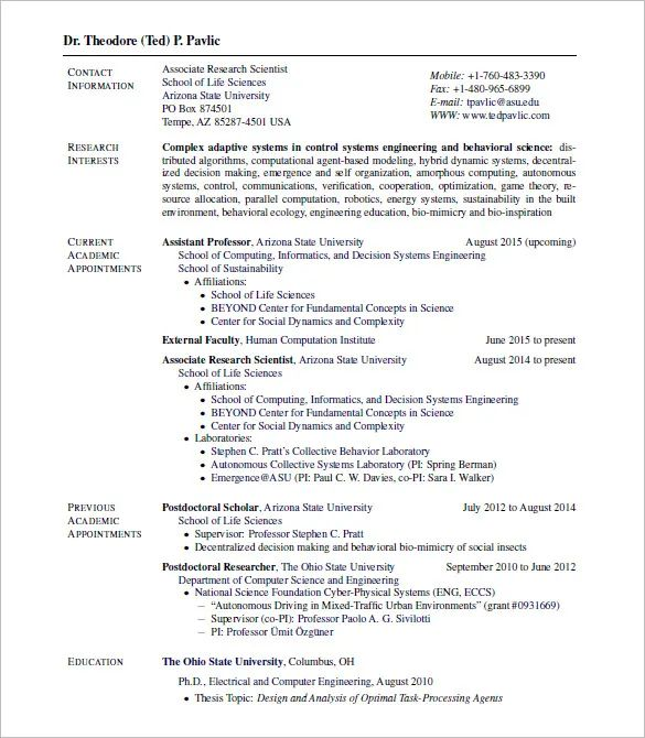 latex template cv engineer
