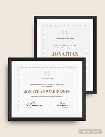 15+ Graduation Gift Certificate Templates - PSD, AI, Word, InDesign