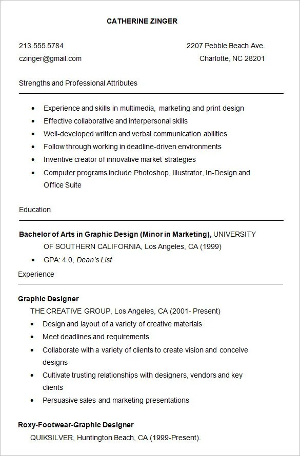 10+ College Resume Templates u2013 Free Samples, Examples, \ Formats - college resume tips