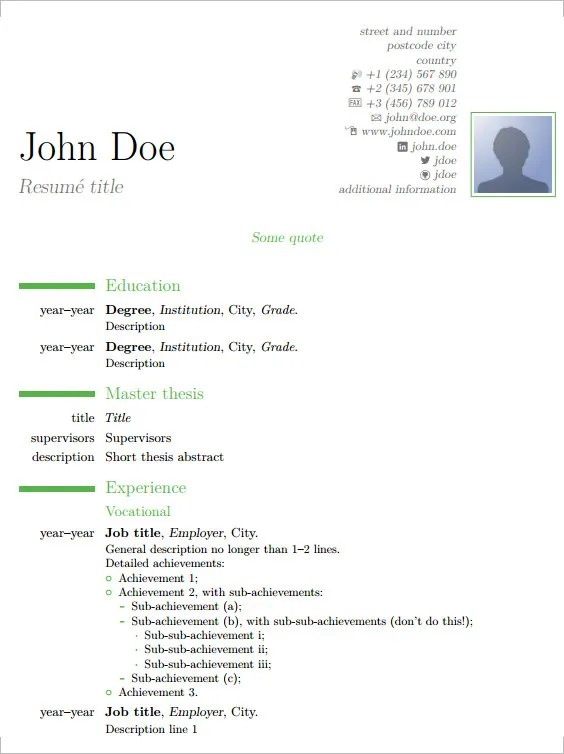 resume template tex - Boatjeremyeaton - latex resume templates