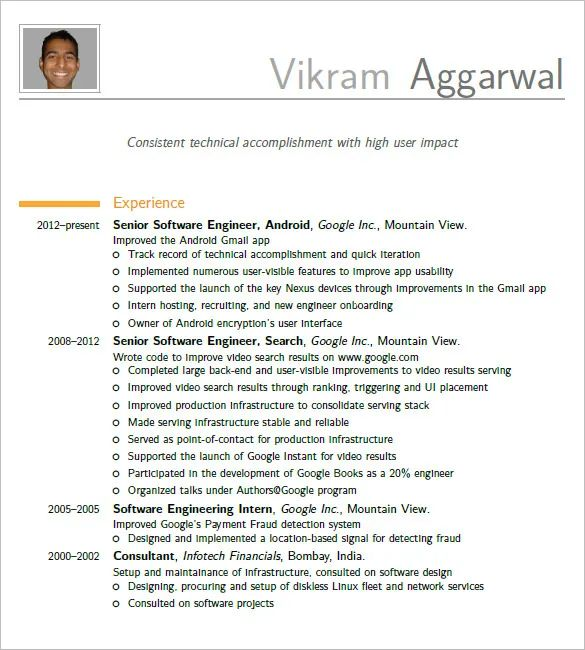 template cv latex engineer