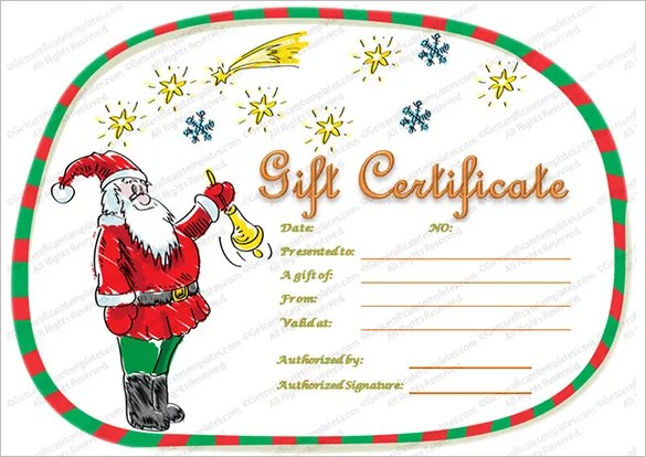 Christmas Gift Certificate Template - 16+ Word, PDF Documents - free printable christmas gift certificate