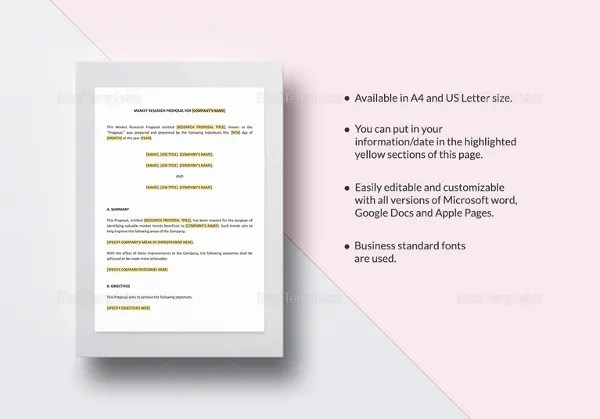 13+ Research Proposal Templates - DOC, PDF, Excel Free  Premium