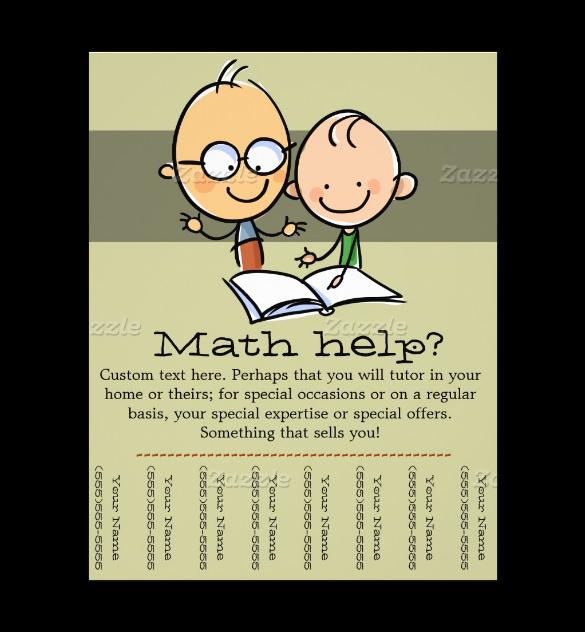 math tutor flyer template