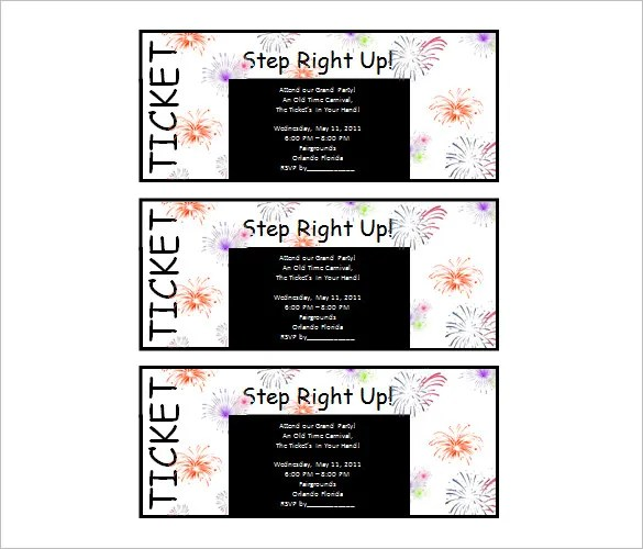 ticket templates microsoft word - Kleobeachfix - microsoft ticket template