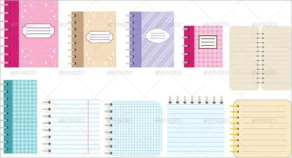 13+ Notebook Paper Templates \u2013 Free EPS, PDF, Illustrator Files - Notebook Paper Template