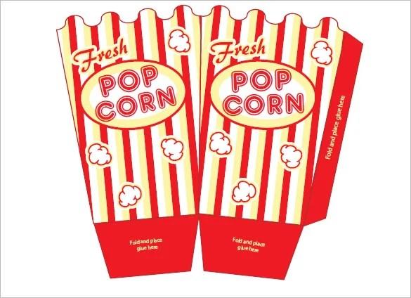 14+ Best Popcorn Box Templates - PDF, PSD, Vector EPS Free