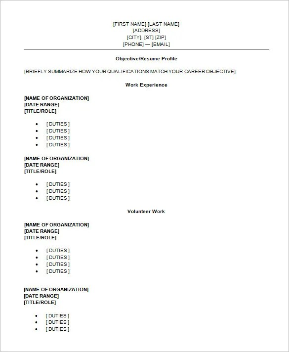 9+ Sample High School Resume Templates, Samples, Examples Free - resume templates for teens
