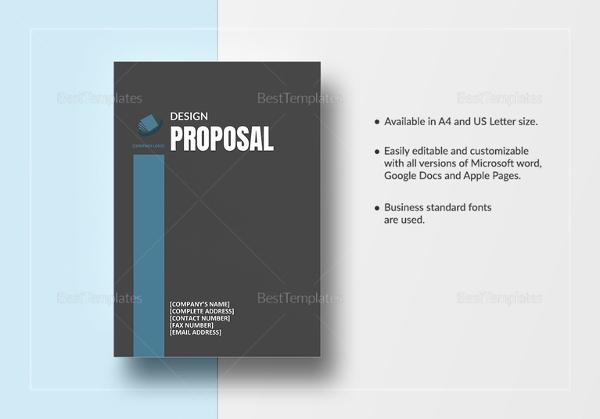 Design Proposal Templates u2013 17+ Free Word, Excel, PDF Format - graphic design proposal template