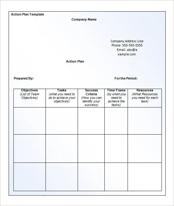 ... Business Action Plan Template   12+ Free Sample, Example, Format   Free  Action ...  Action Plan Templates Free