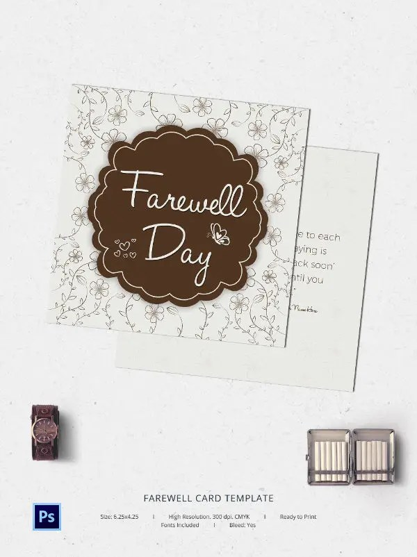 Farewell Card Template printable goodbye cards Best - free farewell card template
