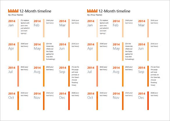 10+ Calendar Timeline Templates \u2013 Free Word, PPT Format Download