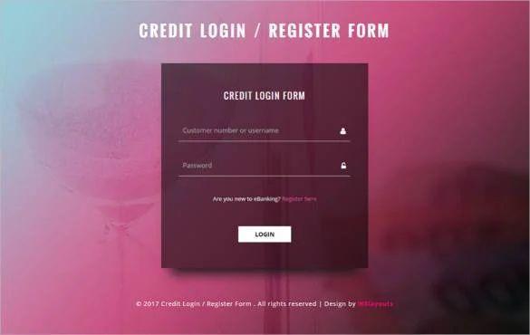 best registration form design in html